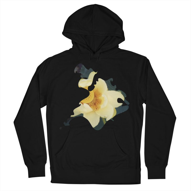 The Thousand Petals Women's French Terry Pullover Hoody by Irresponsible People Black T-Shirts