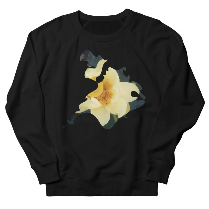 The Thousand Petals Women's French Terry Sweatshirt by Irresponsible People Black T-Shirts