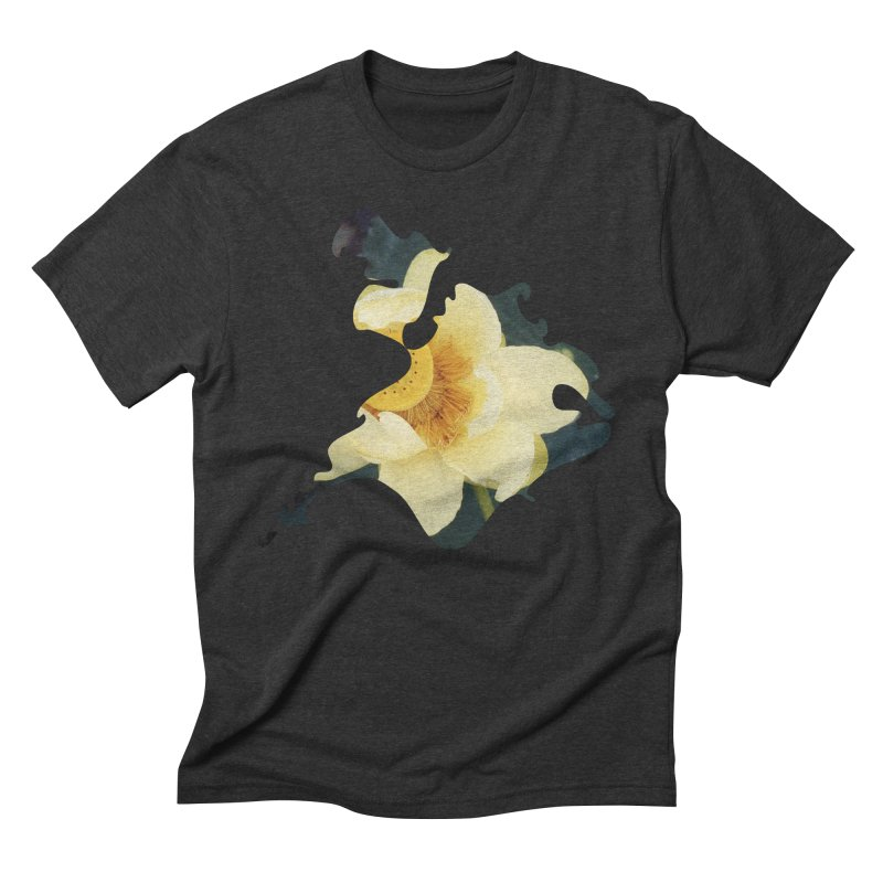 The Thousand Petals Men's Triblend T-Shirt by Irresponsible People Black T-Shirts