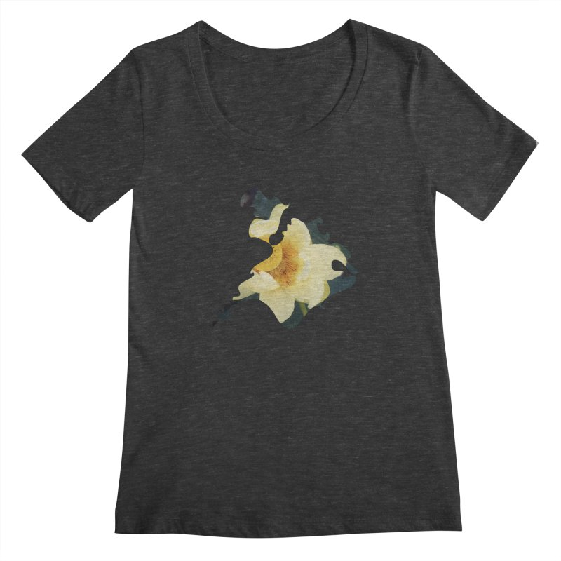 The Thousand Petals Women's Scoopneck by Irresponsible People Black T-Shirts
