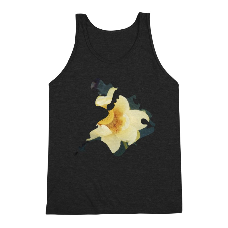 The Thousand Petals Men's Triblend Tank by Irresponsible People Black T-Shirts
