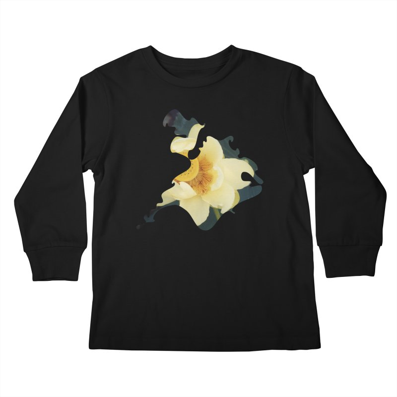 The Thousand Petals Kids Longsleeve T-Shirt by Irresponsible People Black T-Shirts