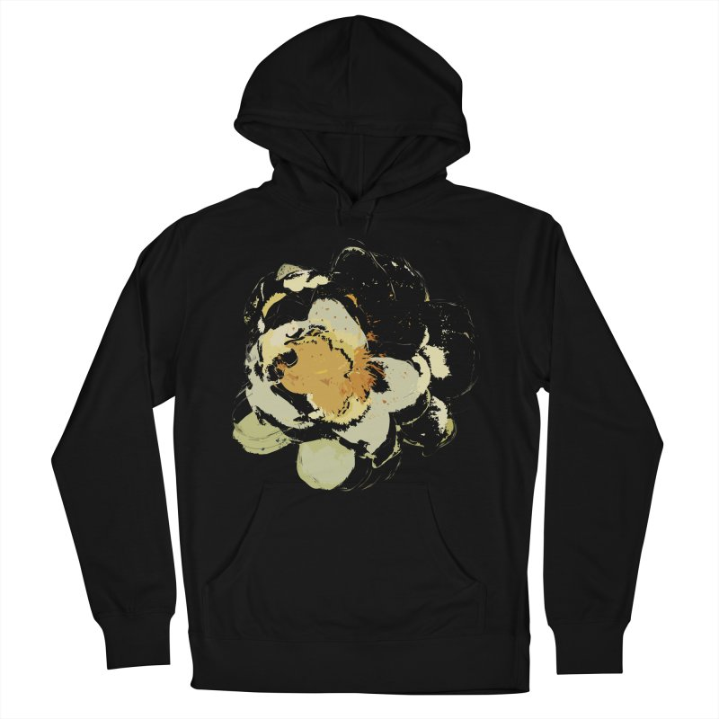 Lotus Slips Sideways Through Time Men's French Terry Pullover Hoody by Irresponsible People Black T-Shirts