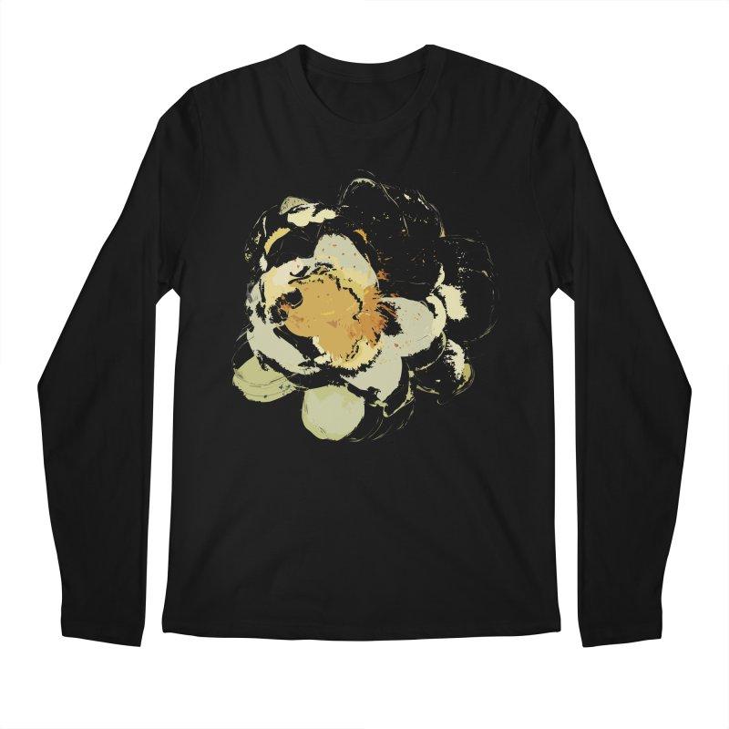 Lotus Slips Sideways Through Time Men's Regular Longsleeve T-Shirt by Irresponsible People Black T-Shirts