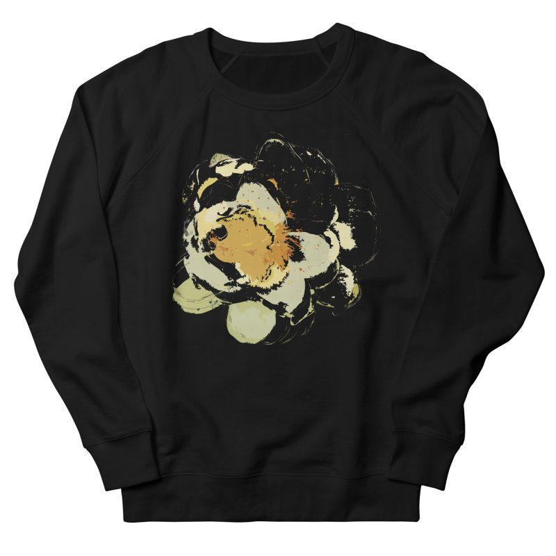 Lotus Slips Sideways Through Time Women's French Terry Sweatshirt by Irresponsible People Black T-Shirts