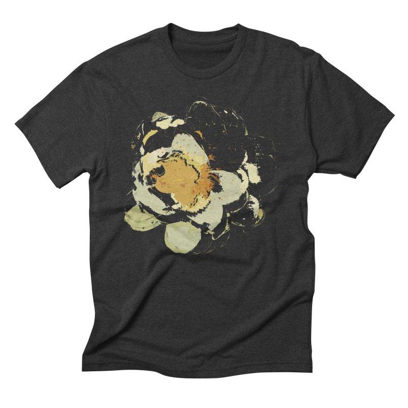 Lotus Slips Sideways Through Time Men's Triblend T-Shirt by Irresponsible People Black T-Shirts