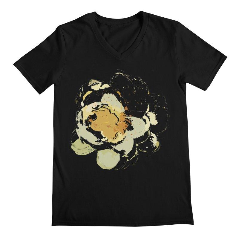 Lotus Slips Sideways Through Time Men's Regular V-Neck by Irresponsible People Black T-Shirts
