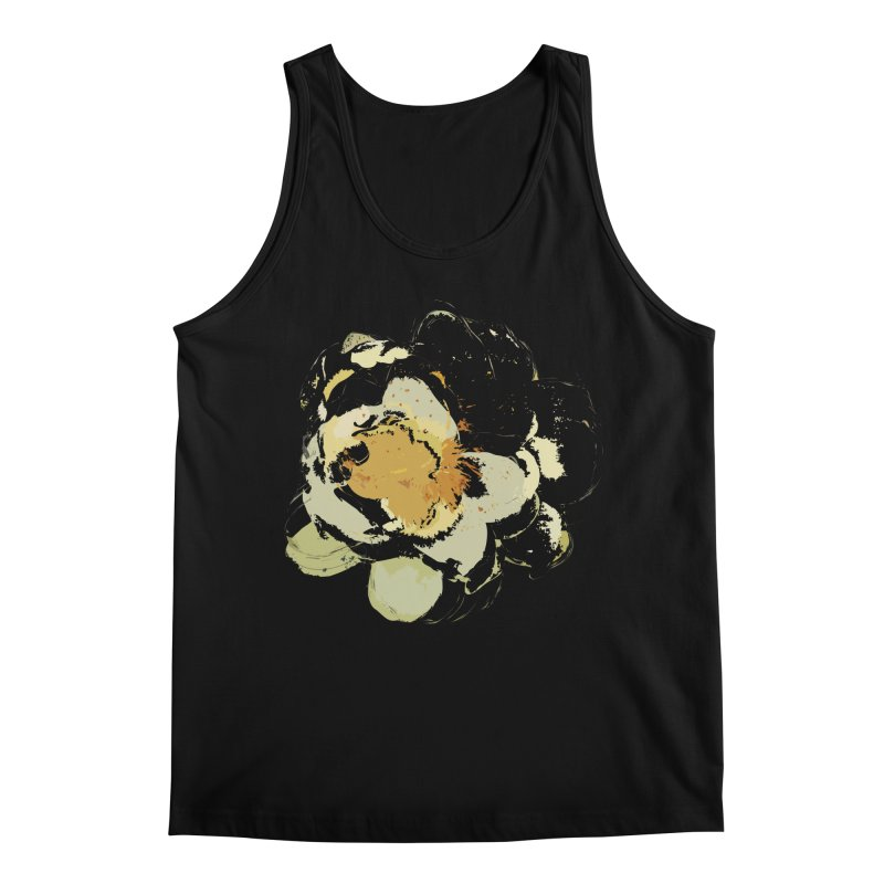 Lotus Slips Sideways Through Time Men's Regular Tank by Irresponsible People Black T-Shirts