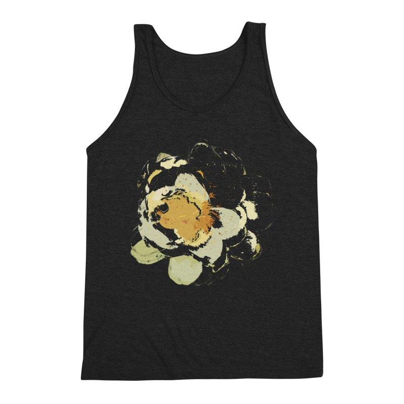 Lotus Slips Sideways Through Time Men's Triblend Tank by Irresponsible People Black T-Shirts