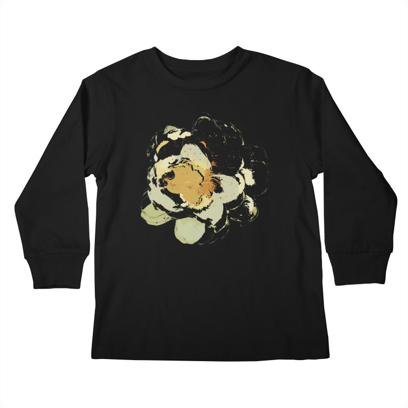 Lotus Slips Sideways Through Time Kids Longsleeve T-Shirt by Irresponsible People Black T-Shirts