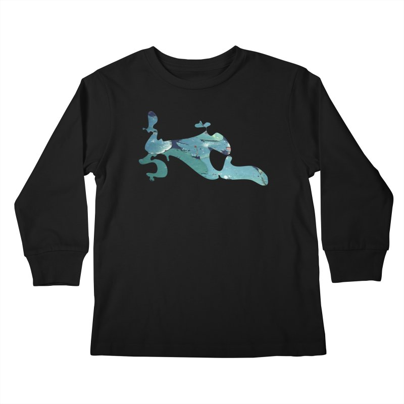 Suspended Above Life Kids Longsleeve T-Shirt by Irresponsible People Black T-Shirts