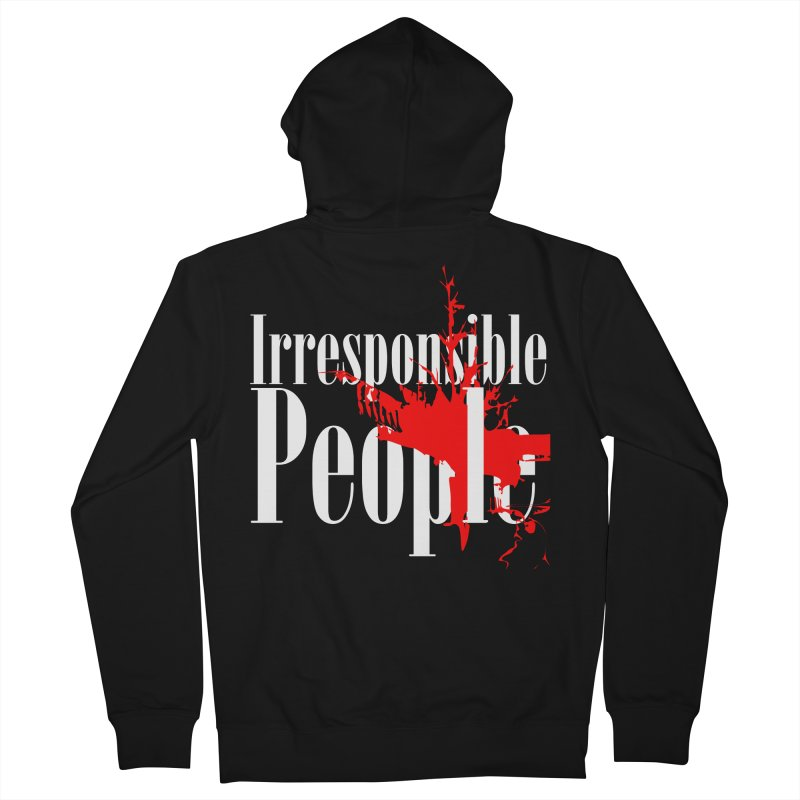 Irresponsible People Brand Women's French Terry Zip-Up Hoody by Irresponsible People Black T-Shirts
