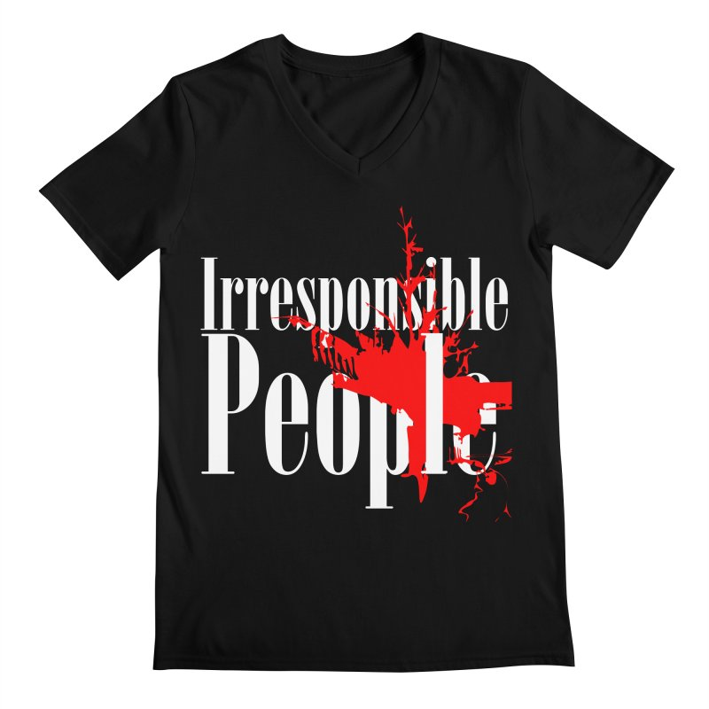 Irresponsible People Brand Men's Regular V-Neck by Irresponsible People Black T-Shirts