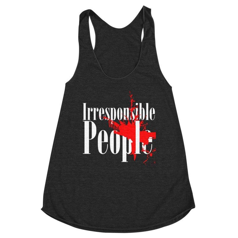 Irresponsible People Brand Women's Racerback Triblend Tank by Irresponsible People Black T-Shirts