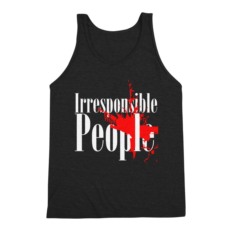 Irresponsible People Brand Men's Triblend Tank by Irresponsible People Black T-Shirts