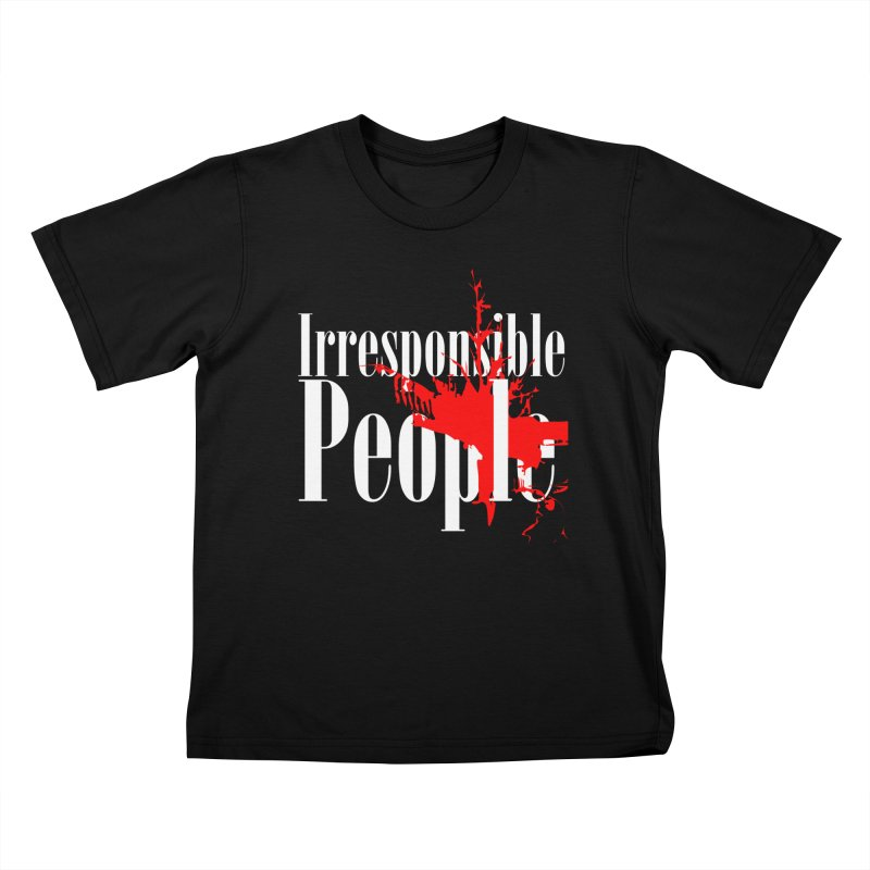 Irresponsible People Brand Kids T-Shirt by Irresponsible People Black T-Shirts