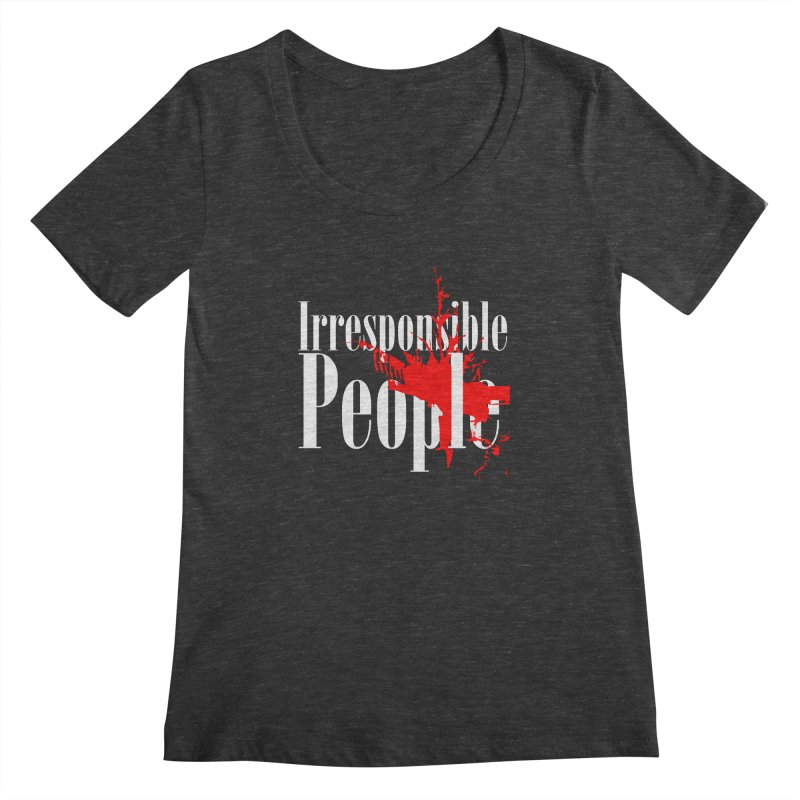 Irresponsible People Brand Women's Scoopneck by Irresponsible People Black T-Shirts