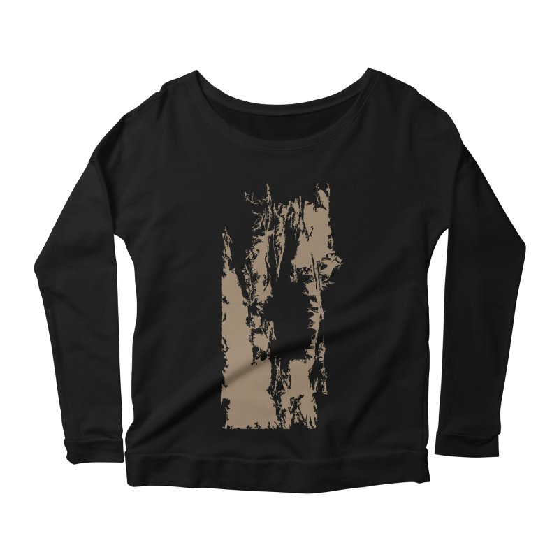 Geologic Explosion Women's Longsleeve Scoopneck  by Irresponsible People Black T-Shirts