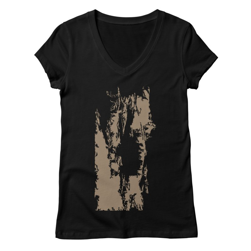 Geologic Explosion Women's Regular V-Neck by Irresponsible People Black T-Shirts
