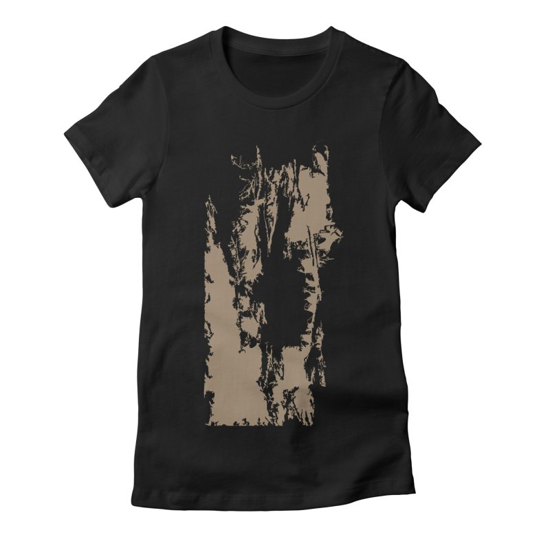 Geologic Explosion Women's Fitted T-Shirt by Irresponsible People Black T-Shirts