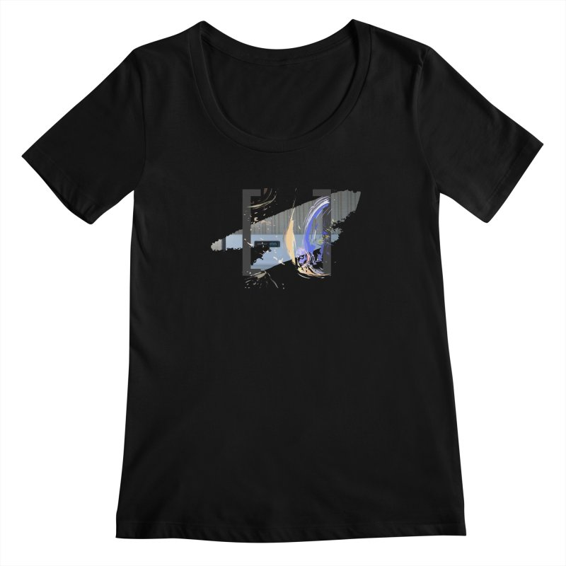 Cooking, My Darling Women's Scoopneck by Irresponsible People Black T-Shirts