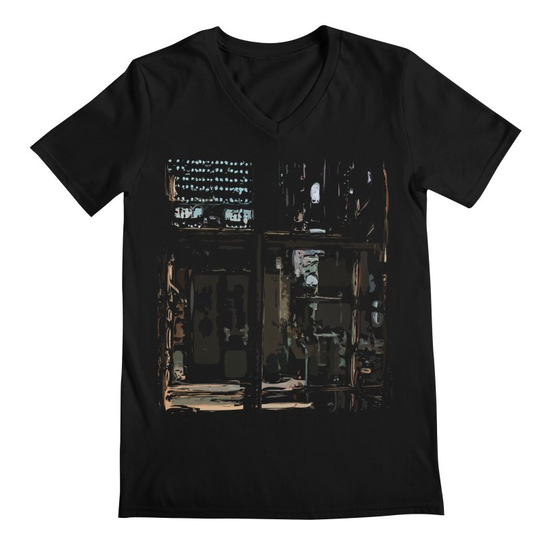 Tech Room Men's V-Neck by Irresponsible People Black T-Shirts