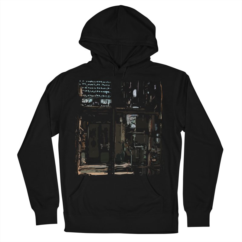 Tech Room Men's French Terry Pullover Hoody by Irresponsible People Black T-Shirts