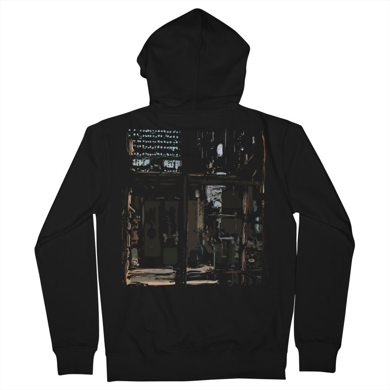 Tech Room Men's French Terry Zip-Up Hoody by Irresponsible People Black T-Shirts