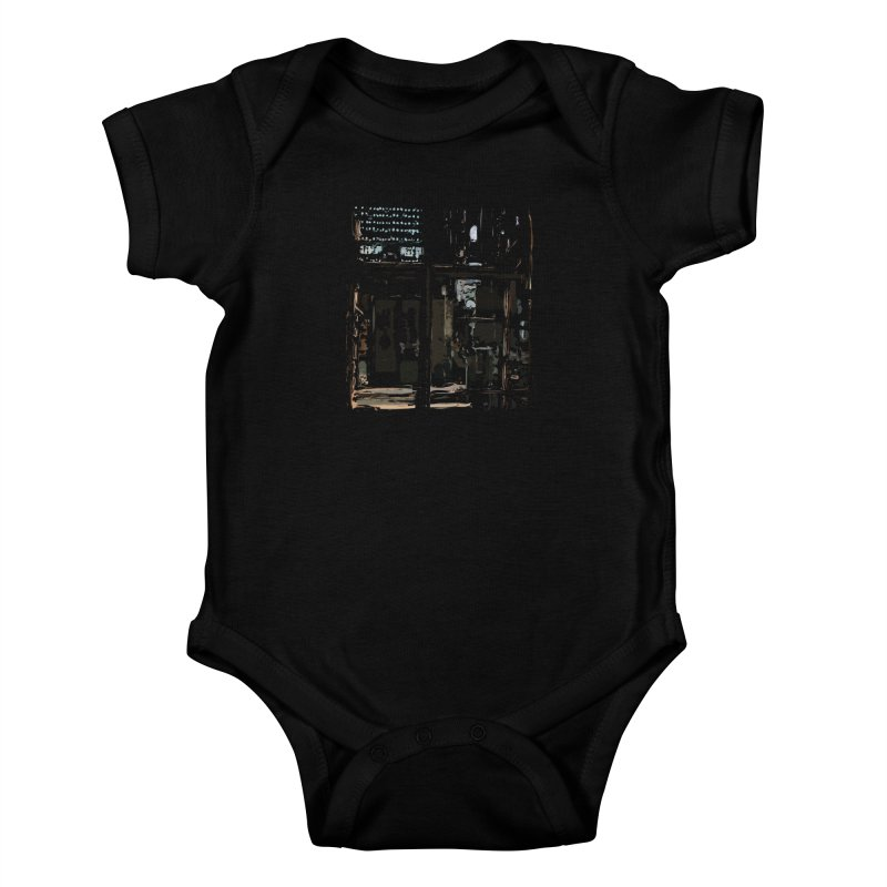 Tech Room Kids Baby Bodysuit by Irresponsible People Black T-Shirts
