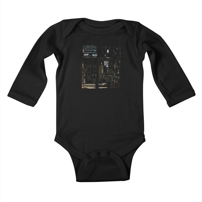 Tech Room Kids Baby Longsleeve Bodysuit by Irresponsible People Black T-Shirts