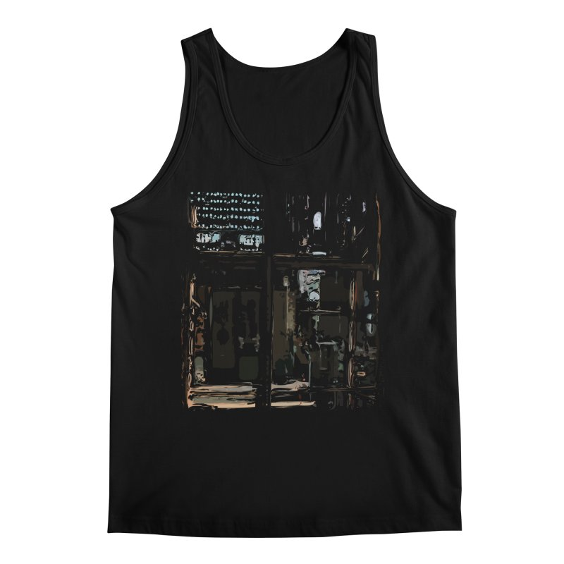 Tech Room Men's Regular Tank by Irresponsible People Black T-Shirts