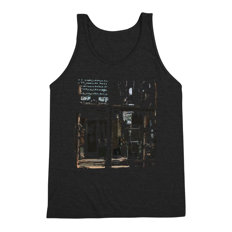 Tech Room Men's Triblend Tank by Irresponsible People Black T-Shirts
