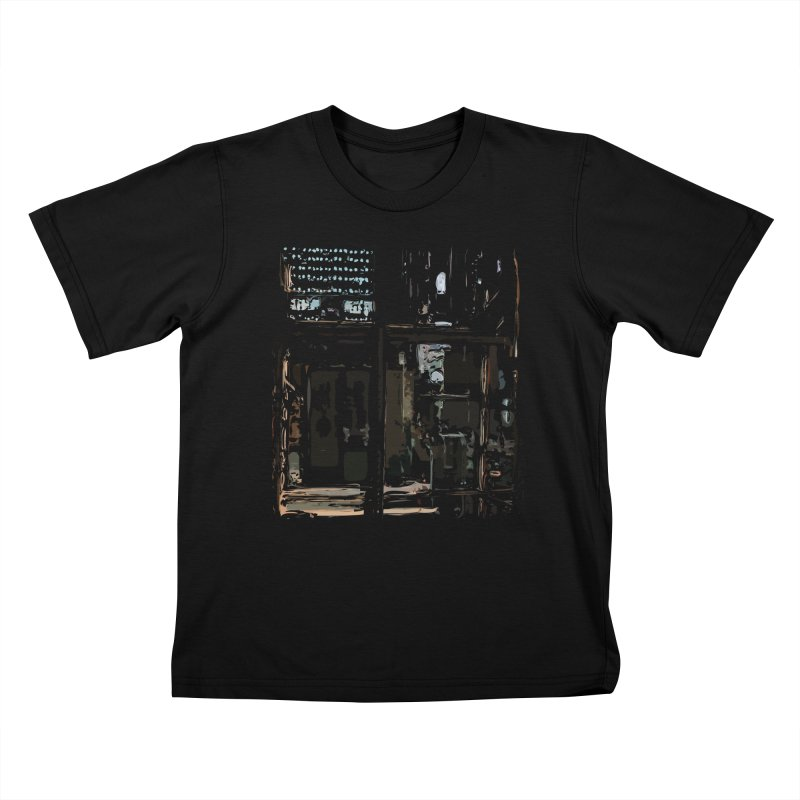 Tech Room Kids T-shirt by Irresponsible People Black T-Shirts