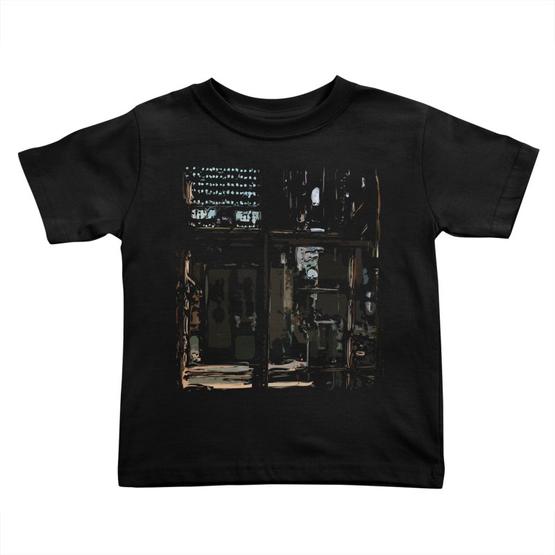 Tech Room Kids Toddler T-Shirt by Irresponsible People Black T-Shirts