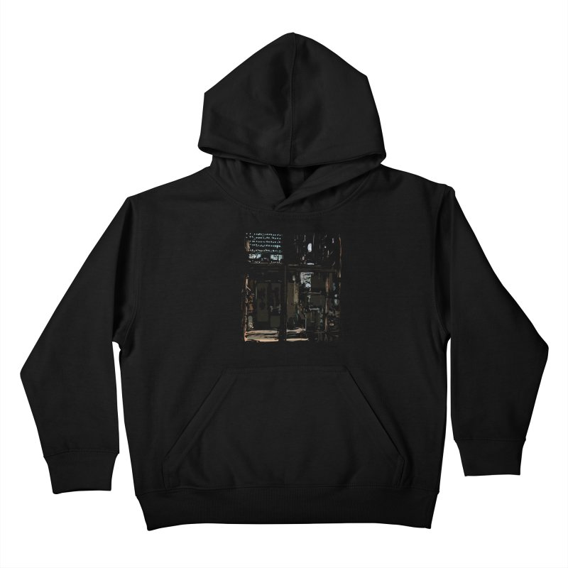 Tech Room Kids Pullover Hoody by Irresponsible People Black T-Shirts