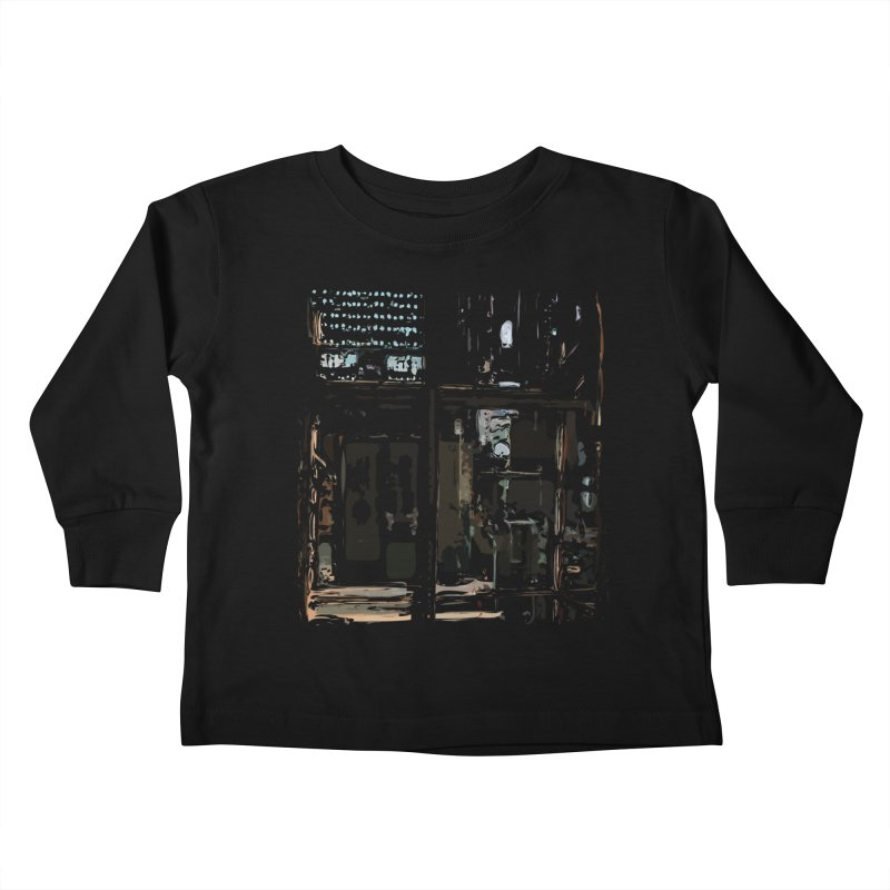 Tech Room Kids Toddler Longsleeve T-Shirt by Irresponsible People Black T-Shirts