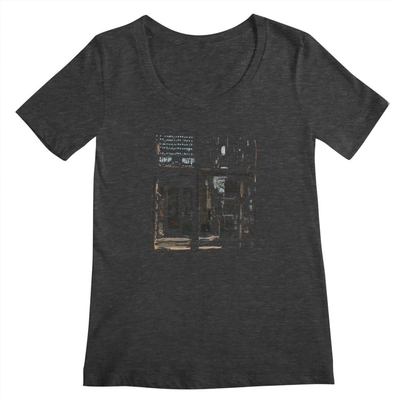 Tech Room Women's Scoopneck by Irresponsible People Black T-Shirts