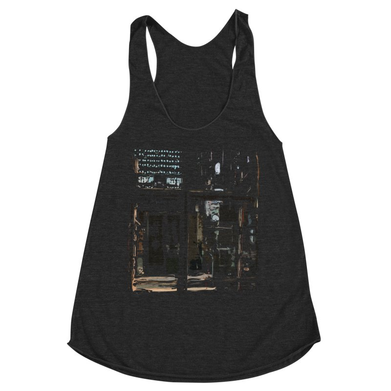 Tech Room Women's Tank by Irresponsible People Black T-Shirts