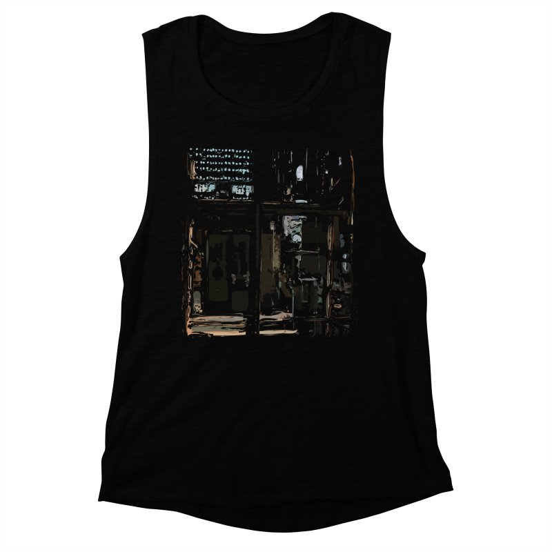 Tech Room Women's Muscle Tank by Irresponsible People Black T-Shirts