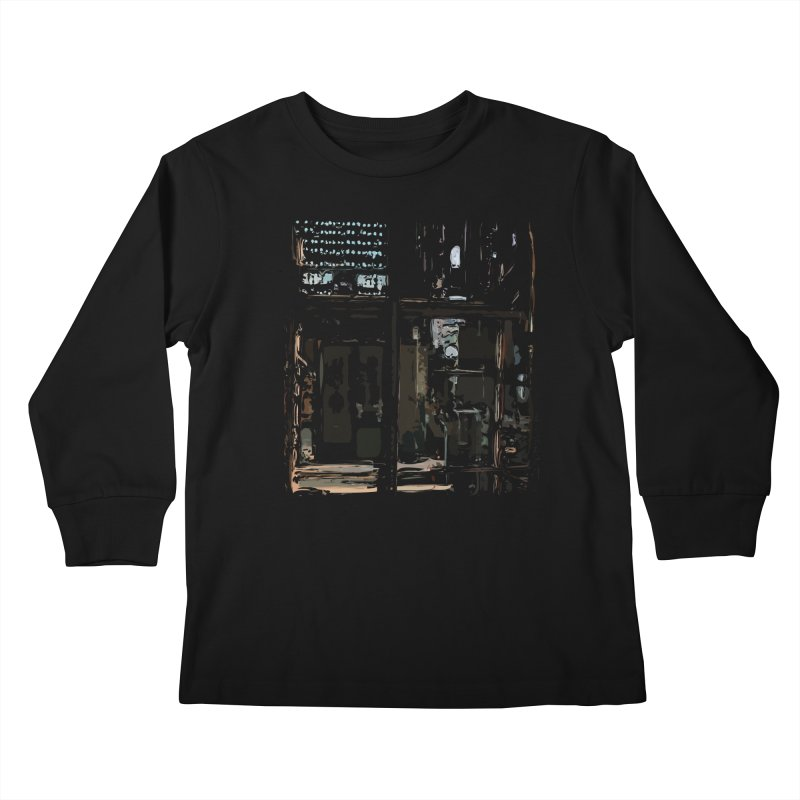 Tech Room Kids Longsleeve T-Shirt by Irresponsible People Black T-Shirts
