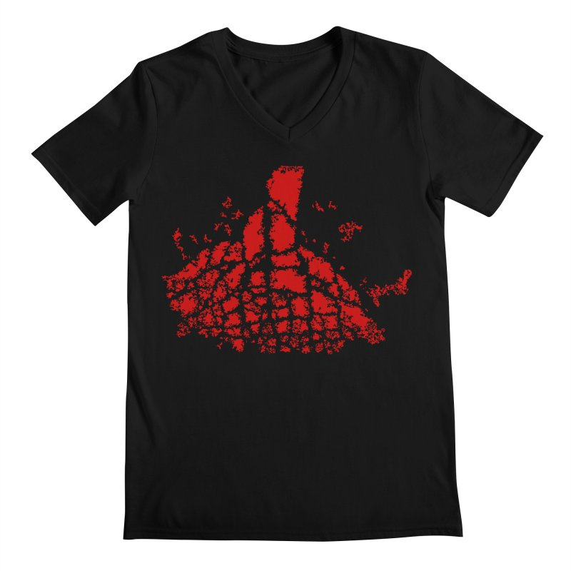 Yellowstone Magma Men's V-Neck by Irresponsible People Black T-Shirts