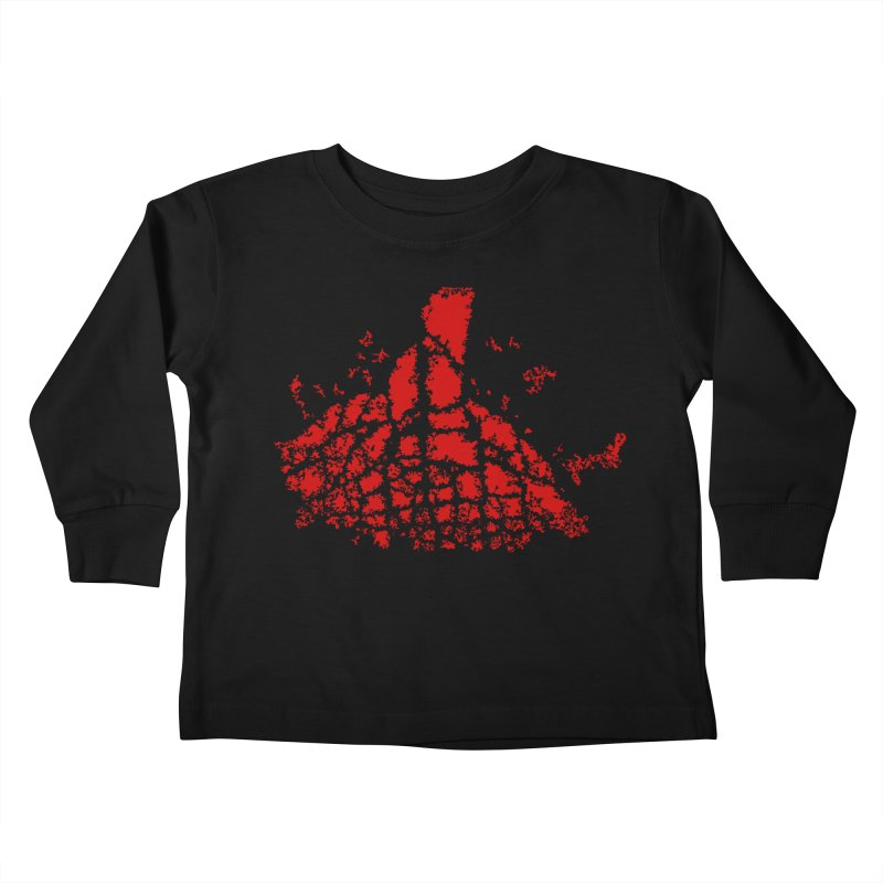 Yellowstone Magma Kids Toddler Longsleeve T-Shirt by Irresponsible People Black T-Shirts