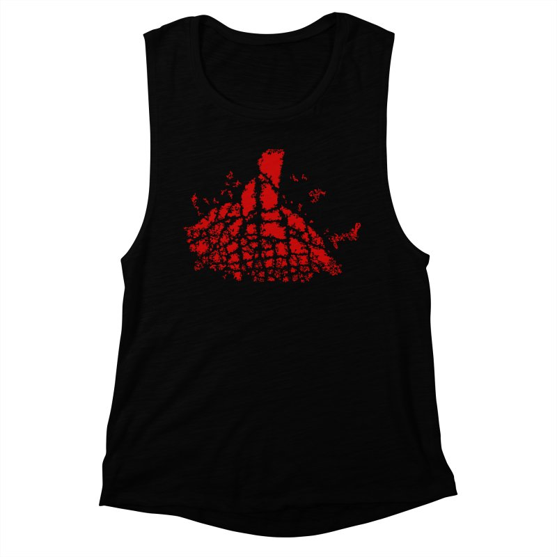Yellowstone Magma Women's Muscle Tank by Irresponsible People Black T-Shirts