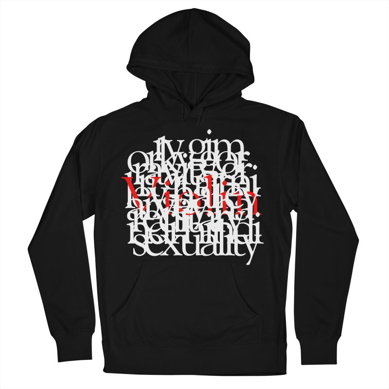 Text and Violins Women's Pullover Hoody by Irresponsible People Black T-Shirts
