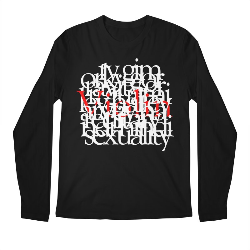 Text and Violins Men's Longsleeve T-Shirt by Irresponsible People Black T-Shirts