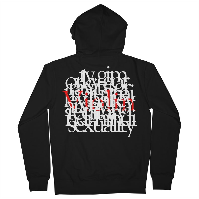 Text and Violins Women's Zip-Up Hoody by Irresponsible People Black T-Shirts