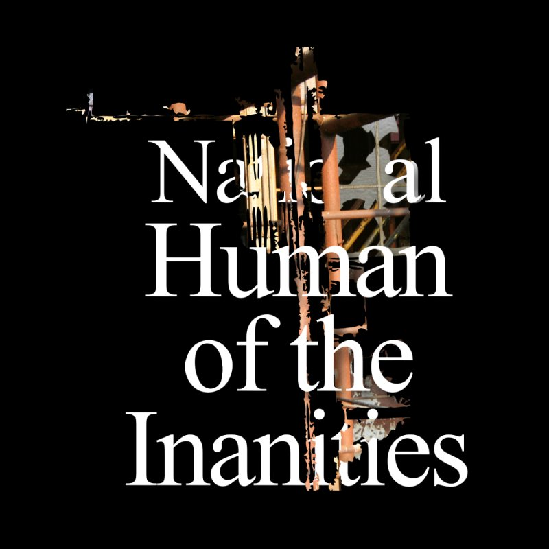 National Human of the Inanities Men's T-Shirt by Irresponsible People Black T-Shirts