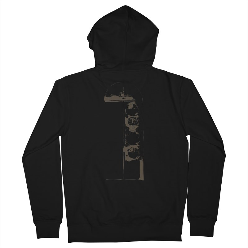 Door of Reception Men's Zip-Up Hoody by Irresponsible People Black T-Shirts