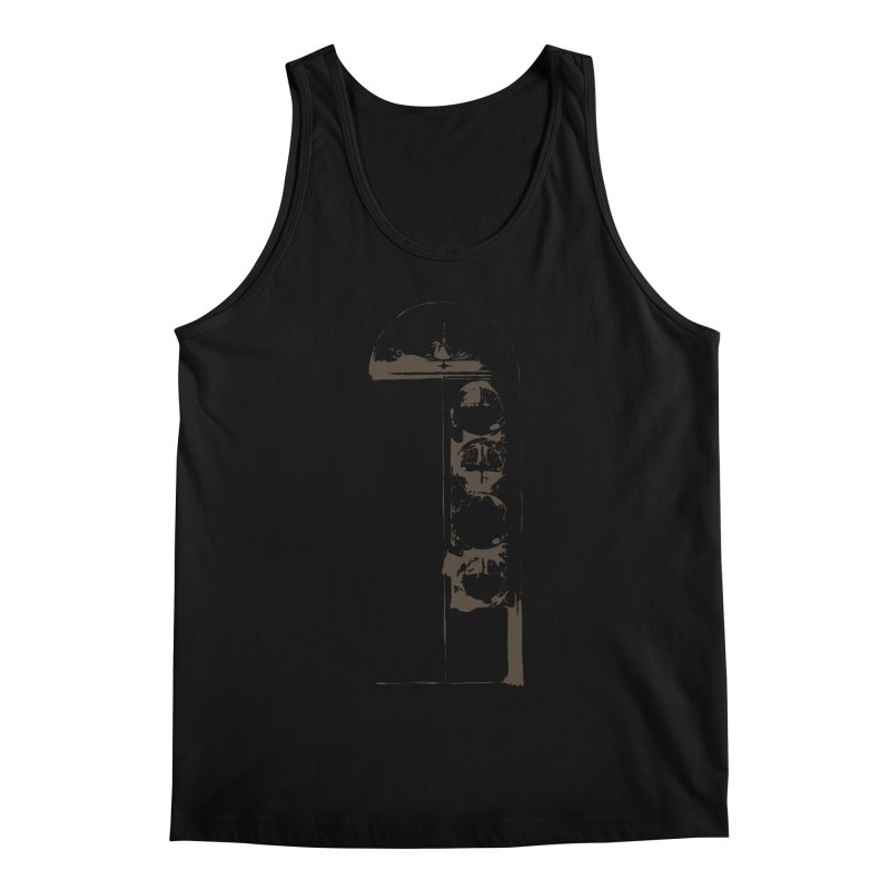 Door of Reception Men's Regular Tank by Irresponsible People Black T-Shirts