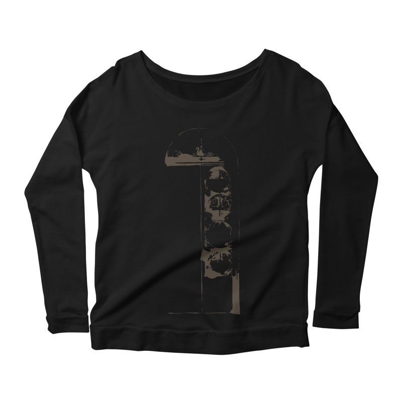 Door of Reception Women's Longsleeve Scoopneck  by Irresponsible People Black T-Shirts